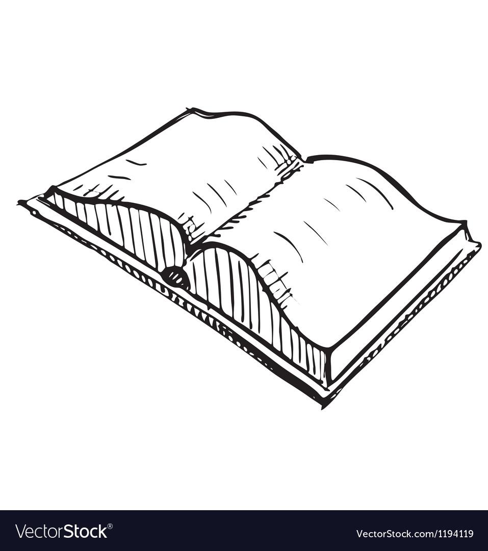 Open book sketch icon vector | Price: 1 Credit (USD $1)