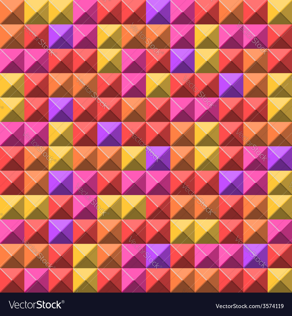 Pale pyramid tiles pattern vector | Price: 1 Credit (USD $1)