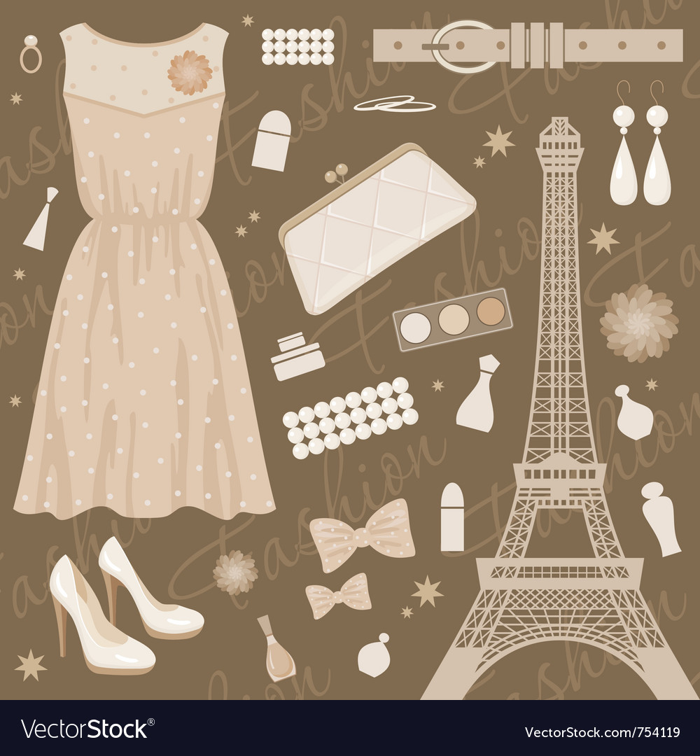 Paris fashion set vector | Price: 1 Credit (USD $1)