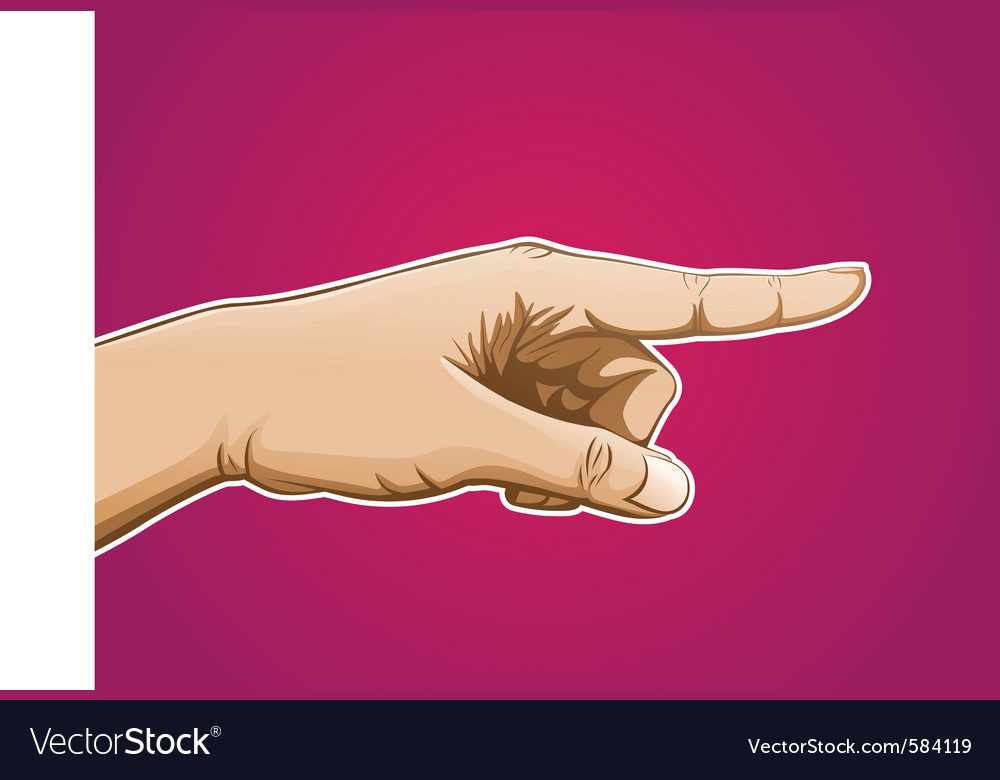 Pointing hand vector | Price: 1 Credit (USD $1)