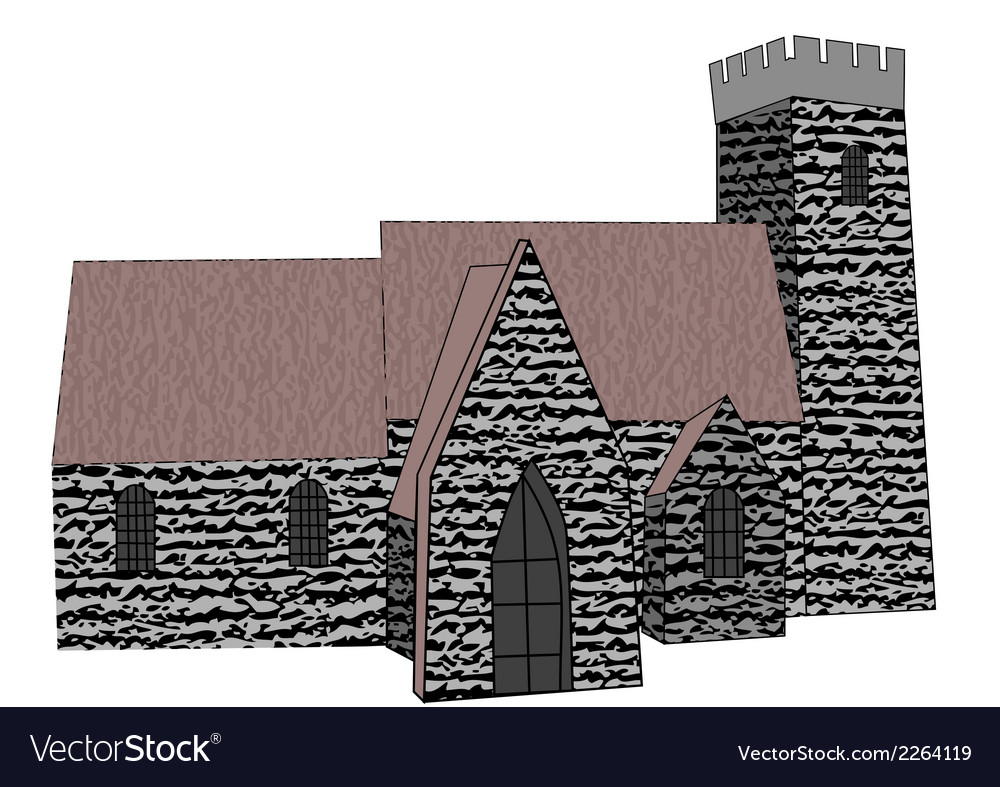 Rural church vector | Price: 1 Credit (USD $1)