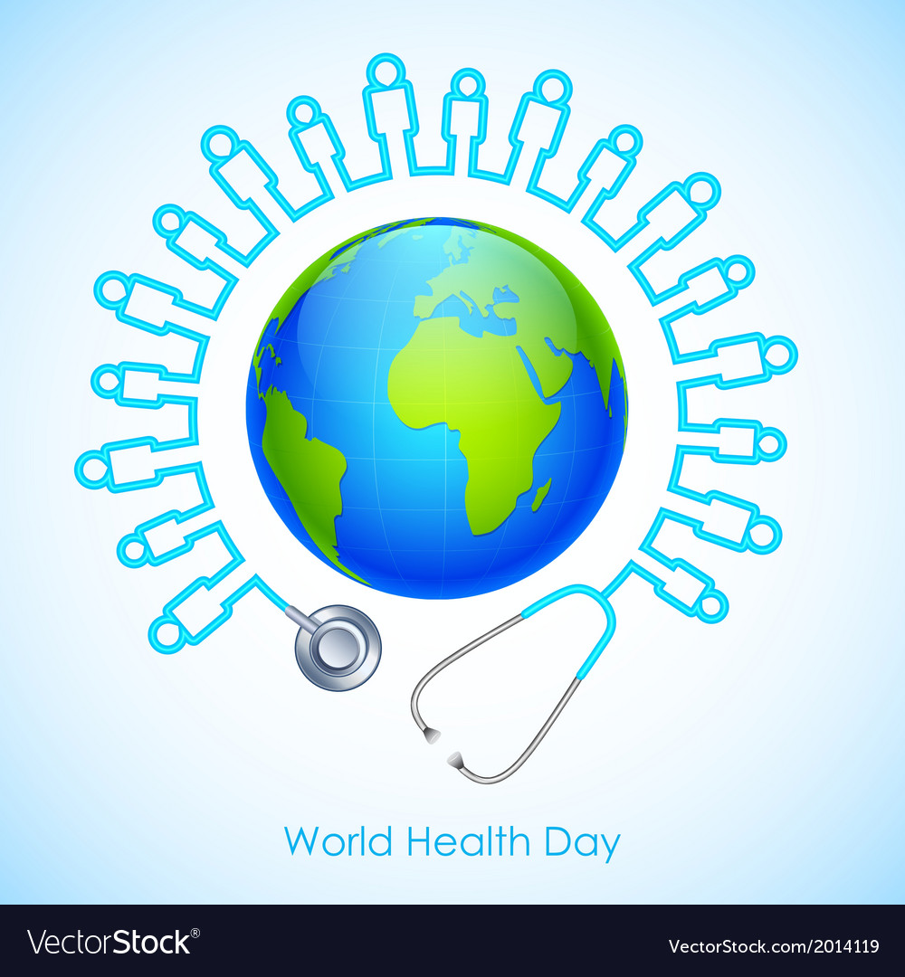 World health day vector | Price: 1 Credit (USD $1)