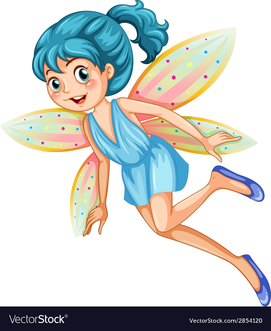 Blue fairy vector | Price: 3 Credit (USD $3)