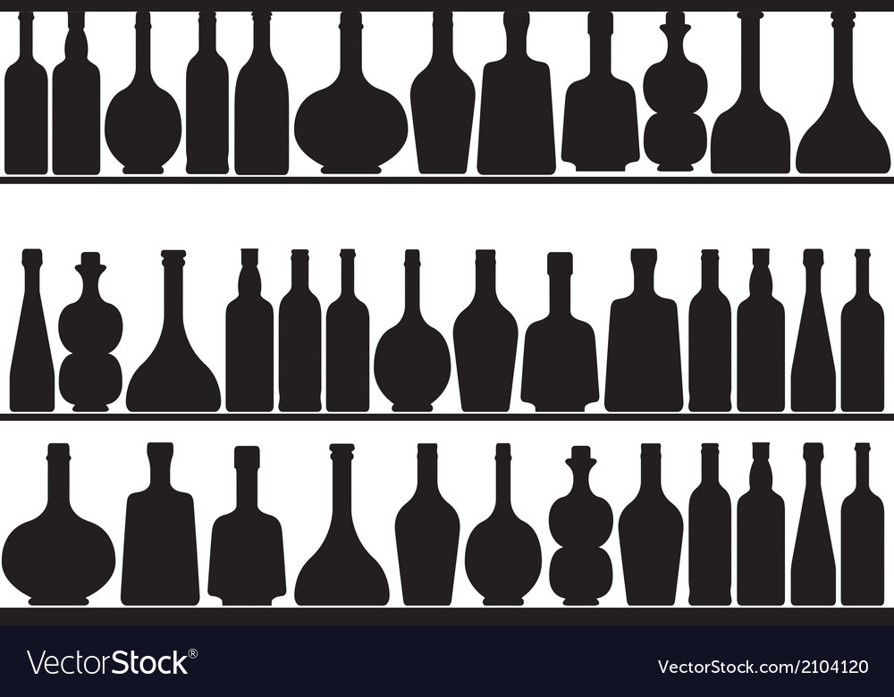 Bottles on shelves vector | Price: 1 Credit (USD $1)