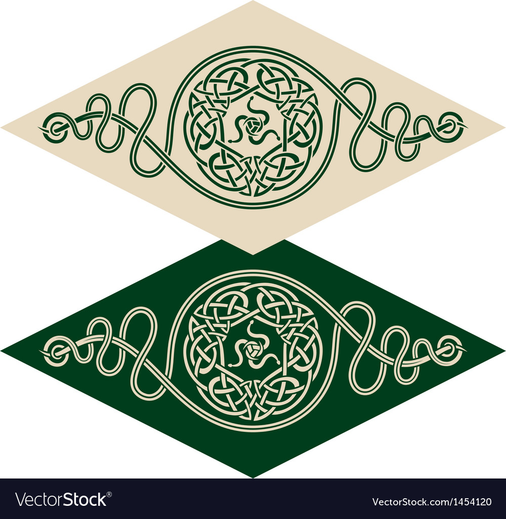 Celtic style pattern vector | Price: 1 Credit (USD $1)