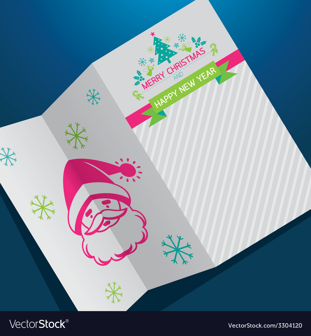 Christmas santa background vector | Price: 1 Credit (USD $1)
