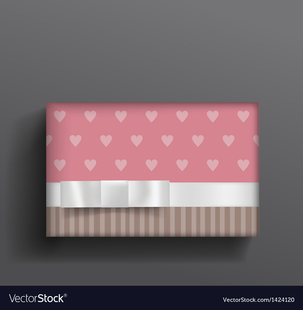 Girly boxe and bow vector | Price: 1 Credit (USD $1)
