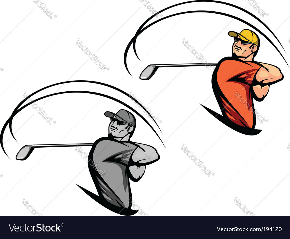 Golf player vector | Price: 3 Credit (USD $3)