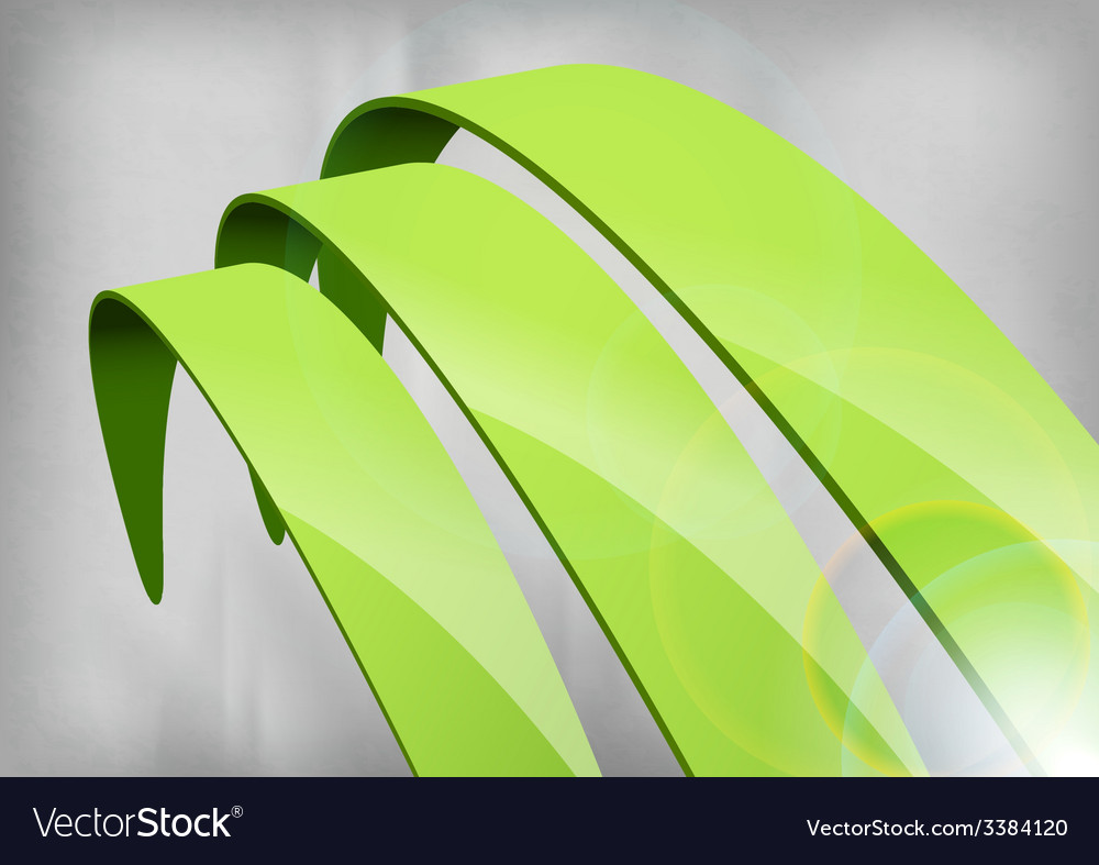 Green abstract curves vector   Price: 1 Credit (USD $1)