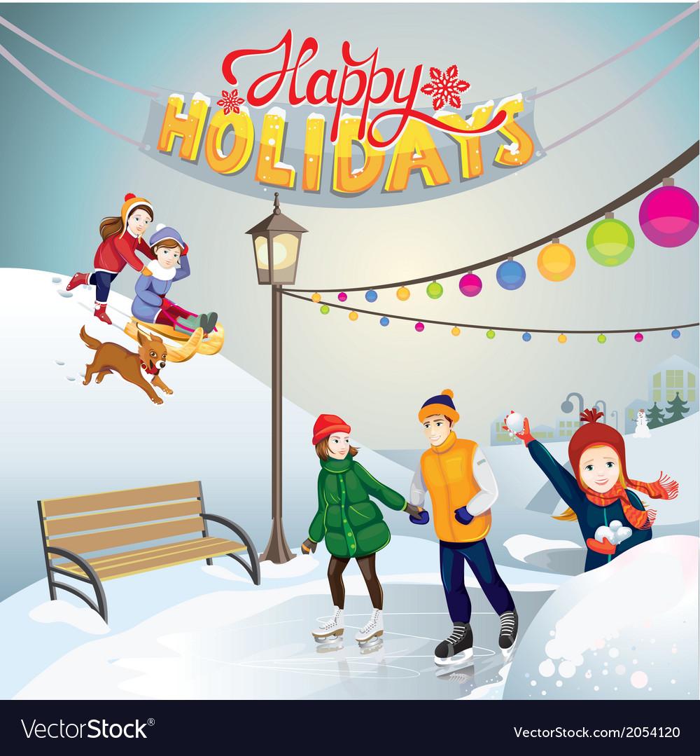 Happy holidays vector   Price: 3 Credit (USD $3)