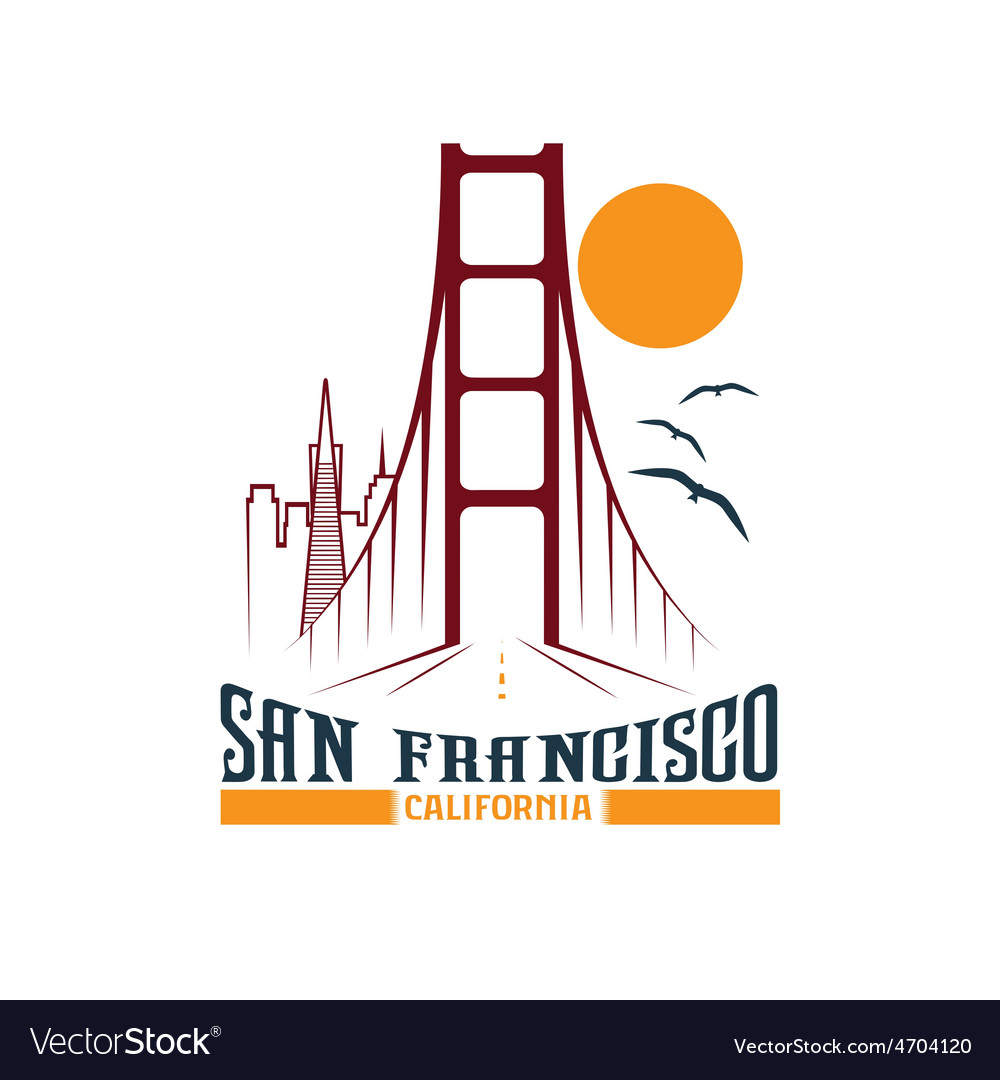 Skyline of san francisco design template vector | Price: 1 Credit (USD $1)