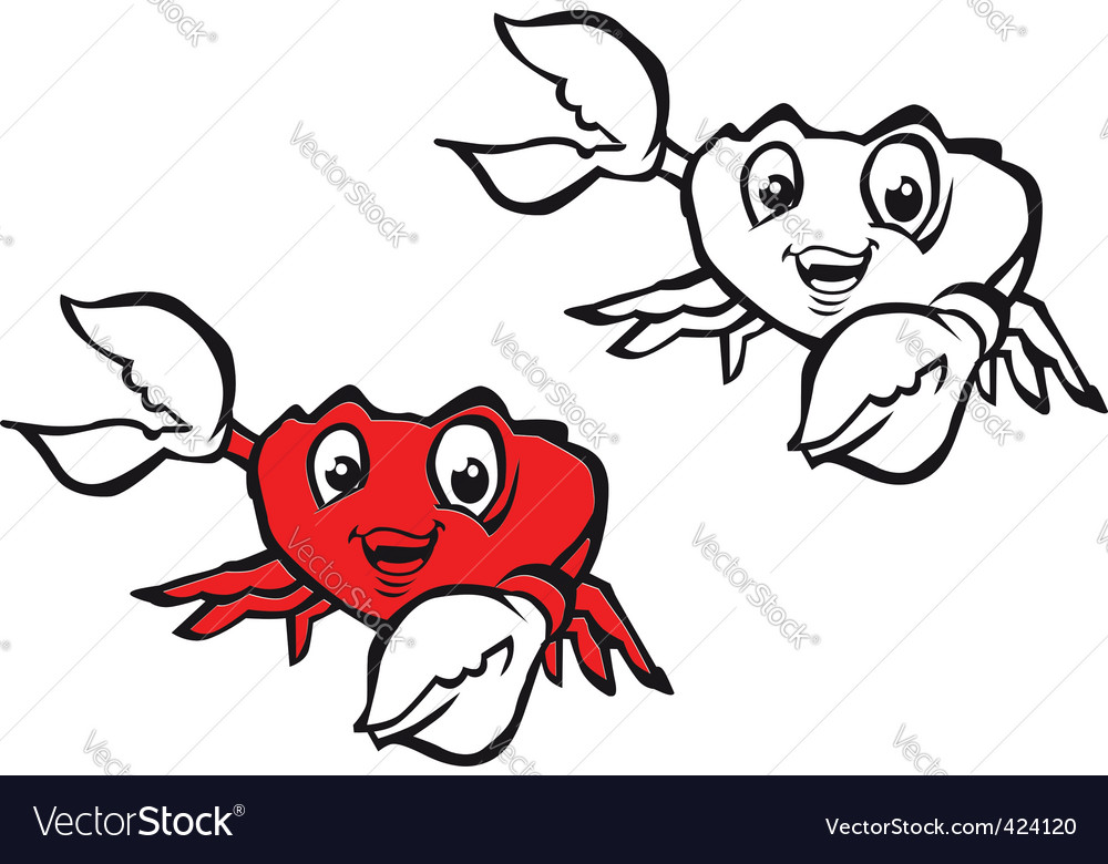 Smiling crab vector | Price: 1 Credit (USD $1)