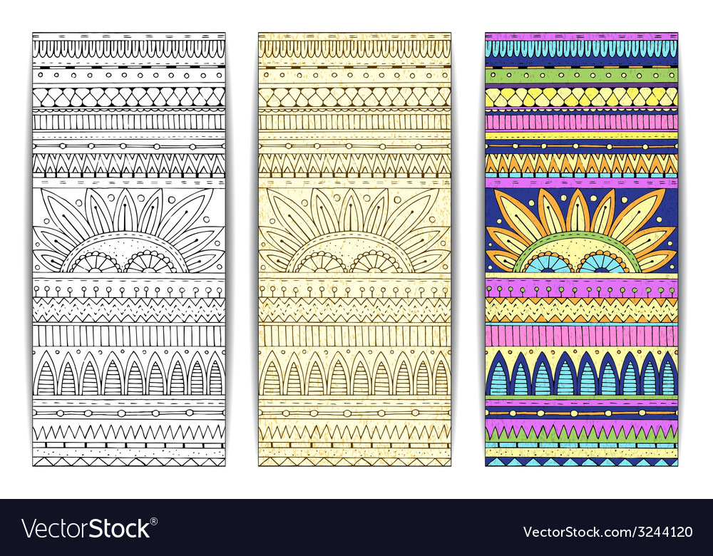 Tribal texture cards vector | Price: 1 Credit (USD $1)