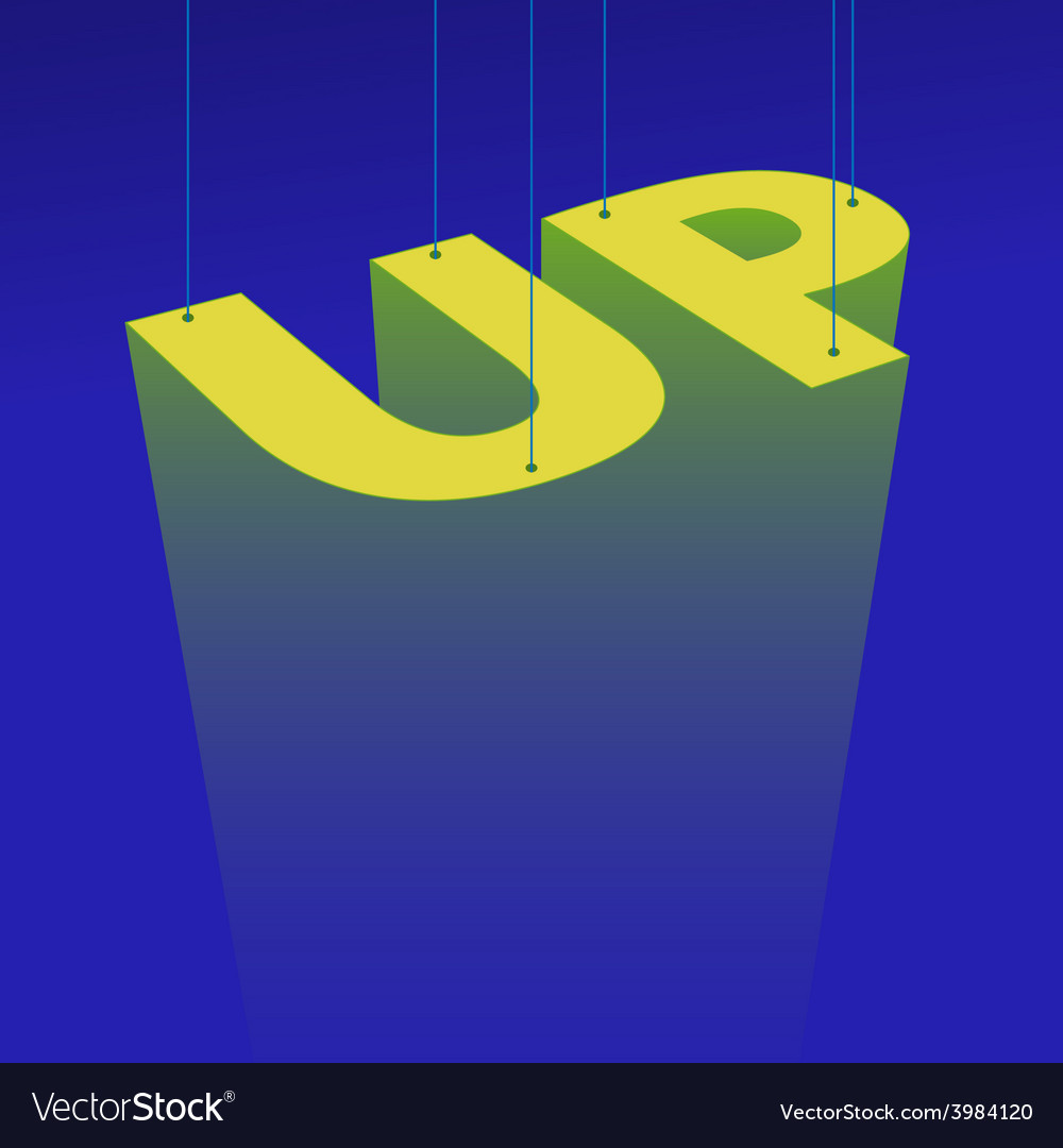 Up poster vector | Price: 1 Credit (USD $1)