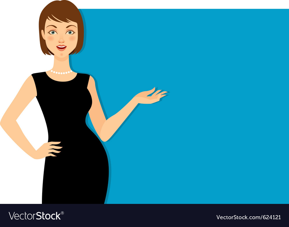 Beautiful woman gesturing vector | Price: 1 Credit (USD $1)