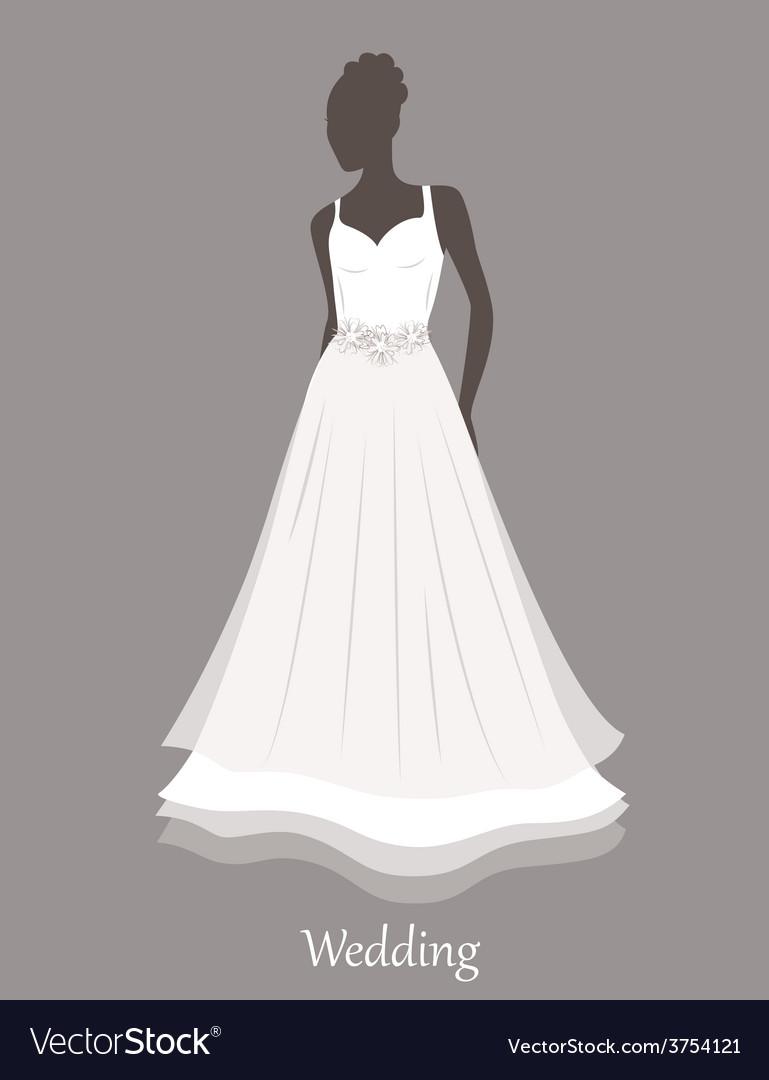 Bride sihlouette vector | Price: 1 Credit (USD $1)
