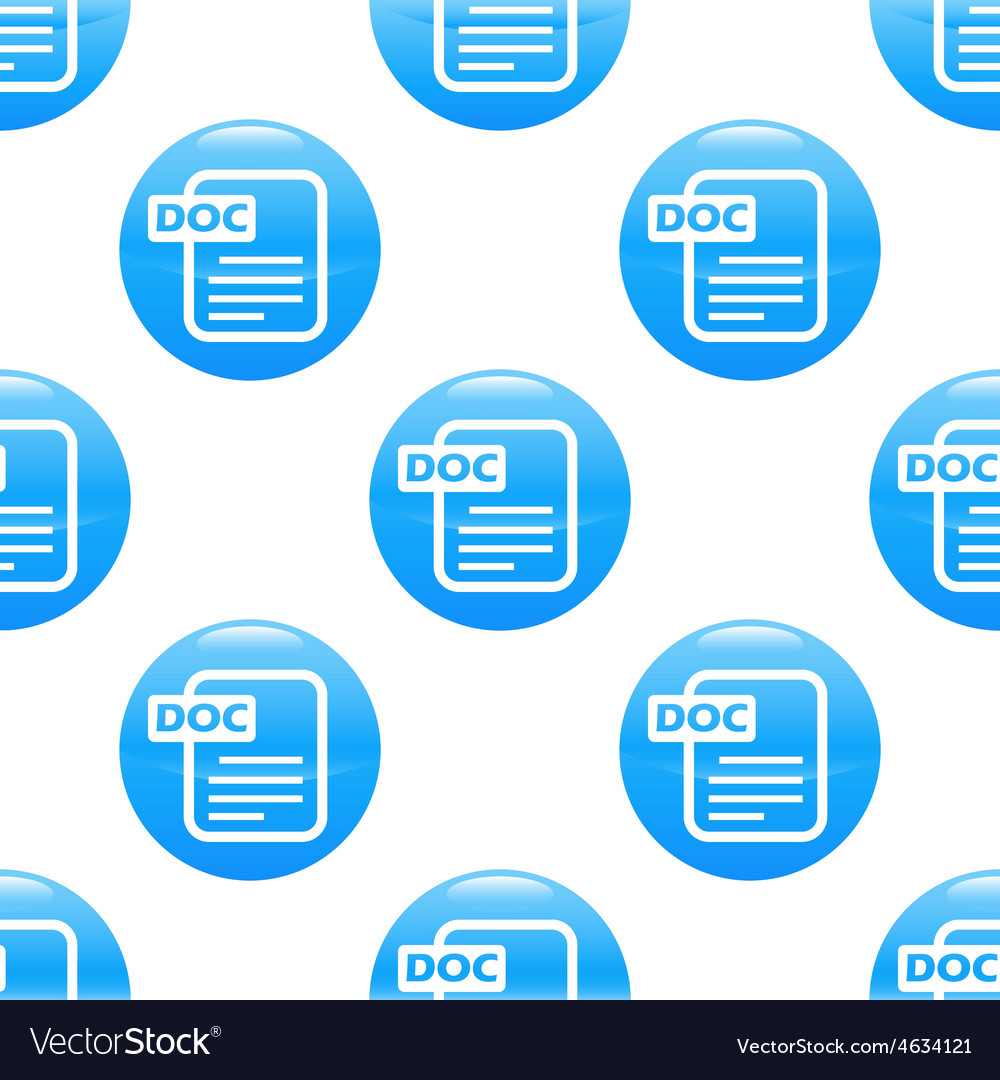 Doc file sign pattern vector | Price: 1 Credit (USD $1)