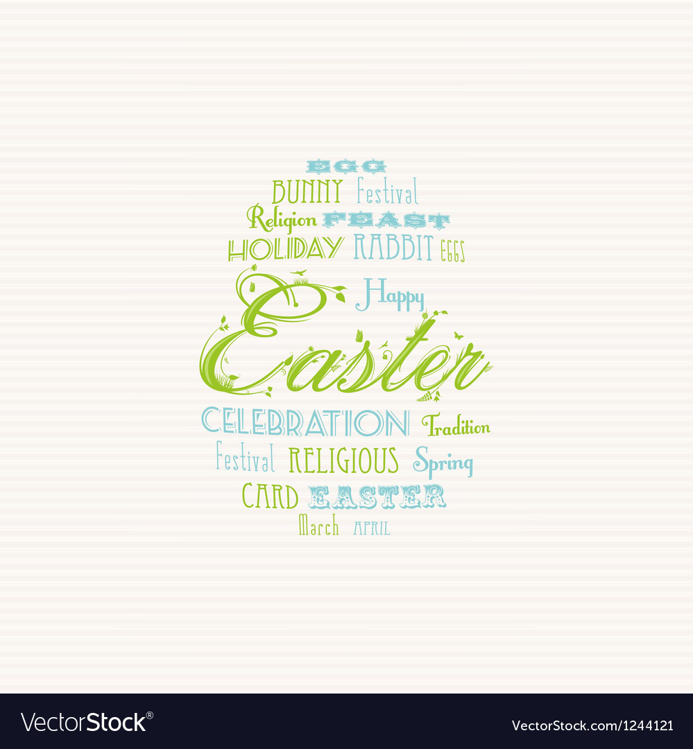 Easter typography background vector | Price: 1 Credit (USD $1)