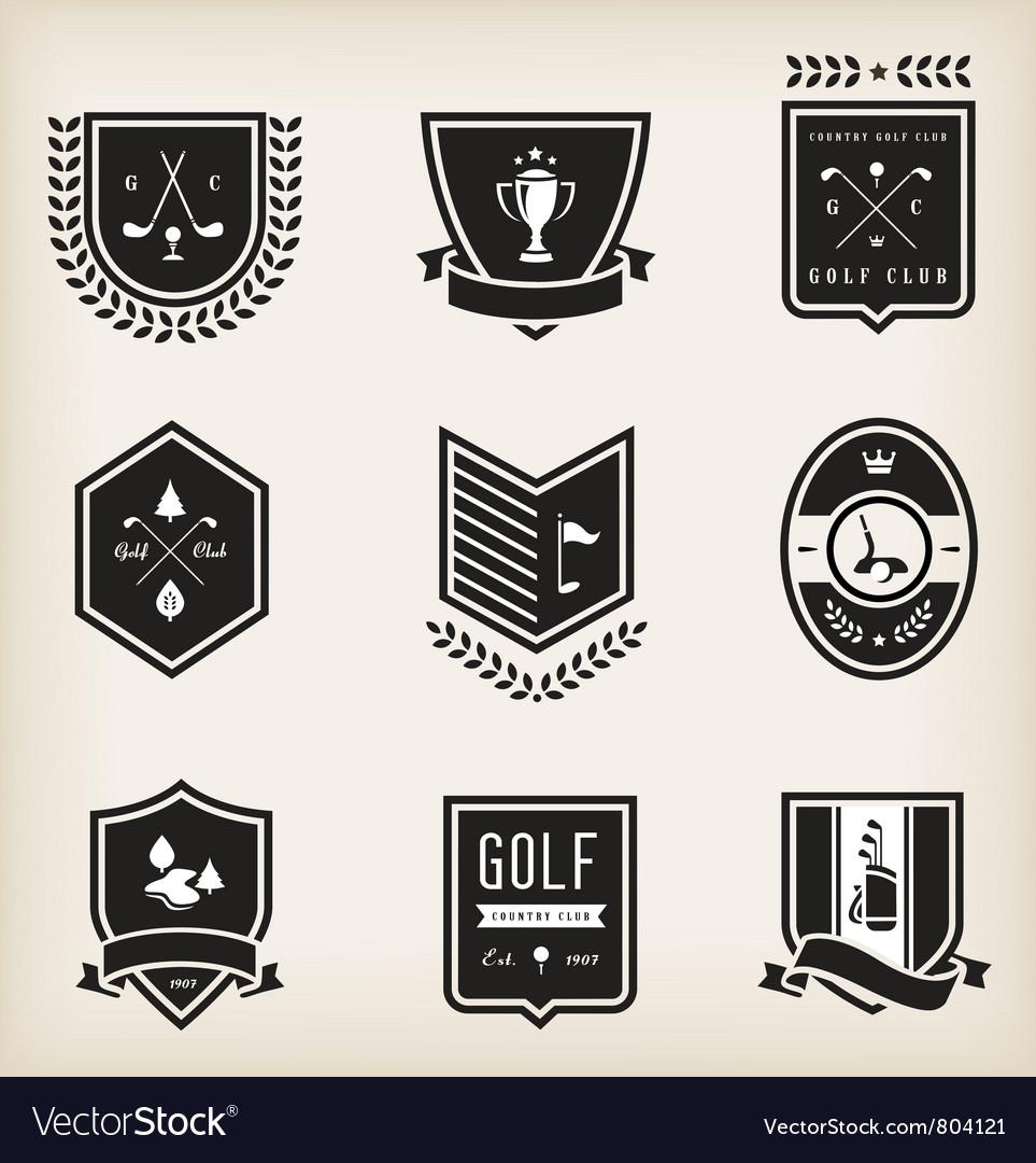 Golf emblems vector | Price: 3 Credit (USD $3)