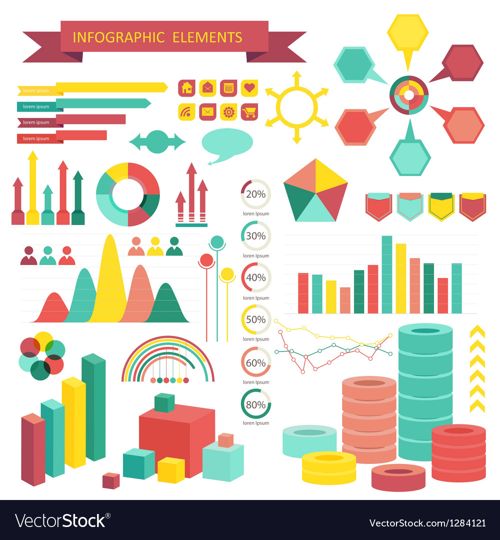 Info graphics elements vector | Price: 3 Credit (USD $3)