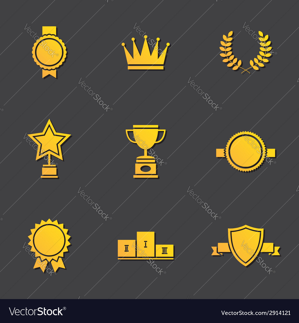 Modern flat design awards vector | Price: 1 Credit (USD $1)