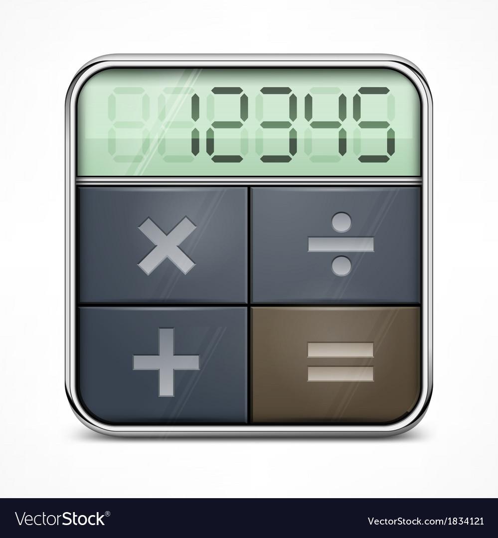 Pocket calculator on white vector | Price: 1 Credit (USD $1)