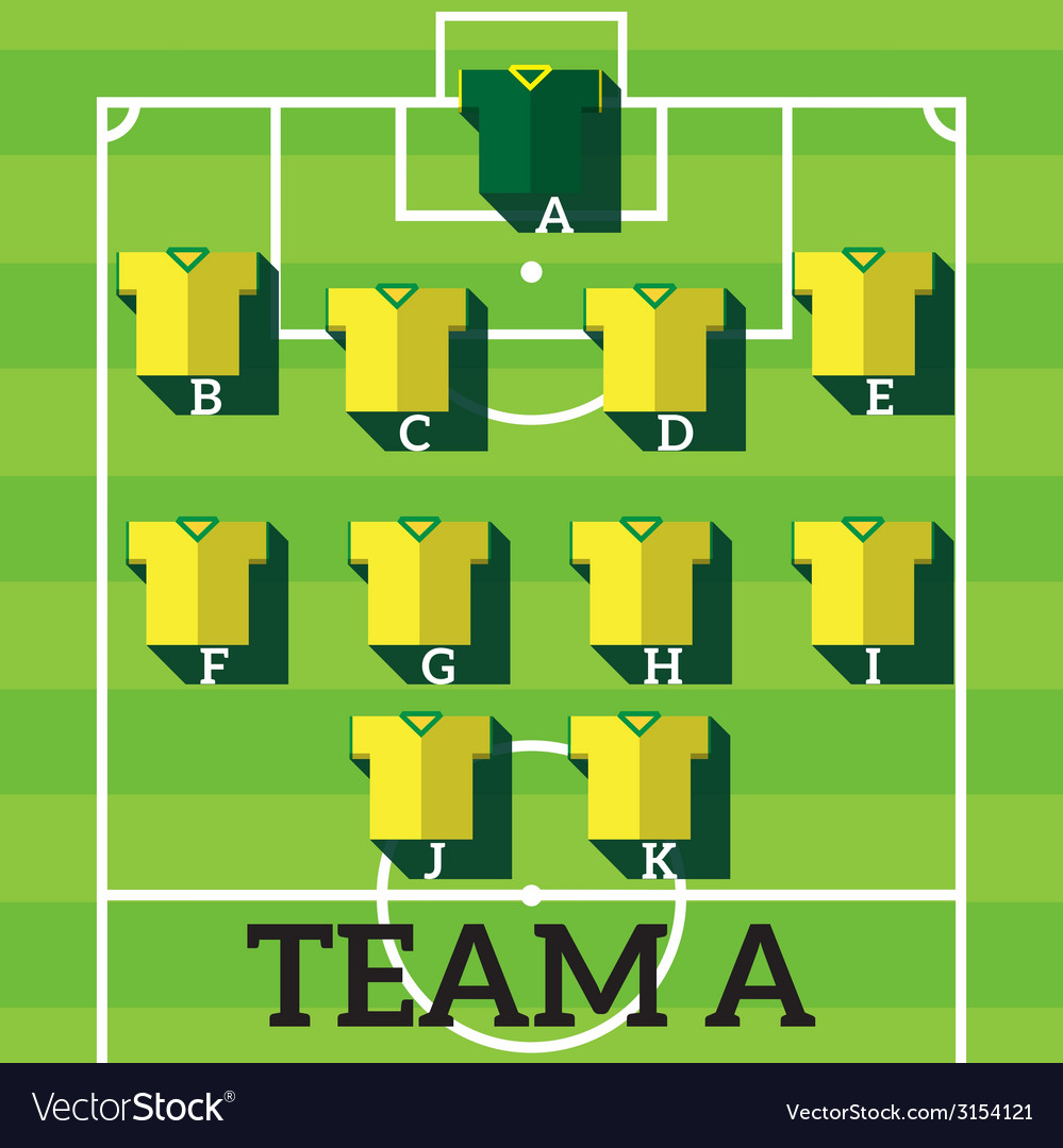 Soccer team chart vector | Price: 1 Credit (USD $1)