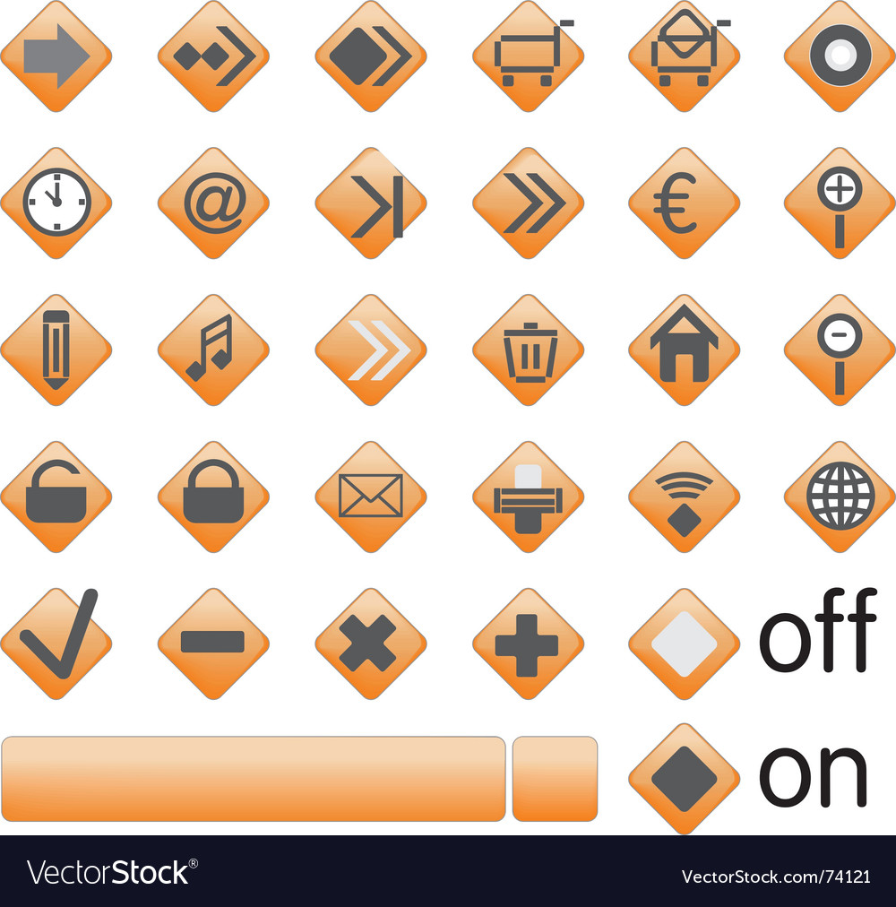 Web button vector | Price: 1 Credit (USD $1)