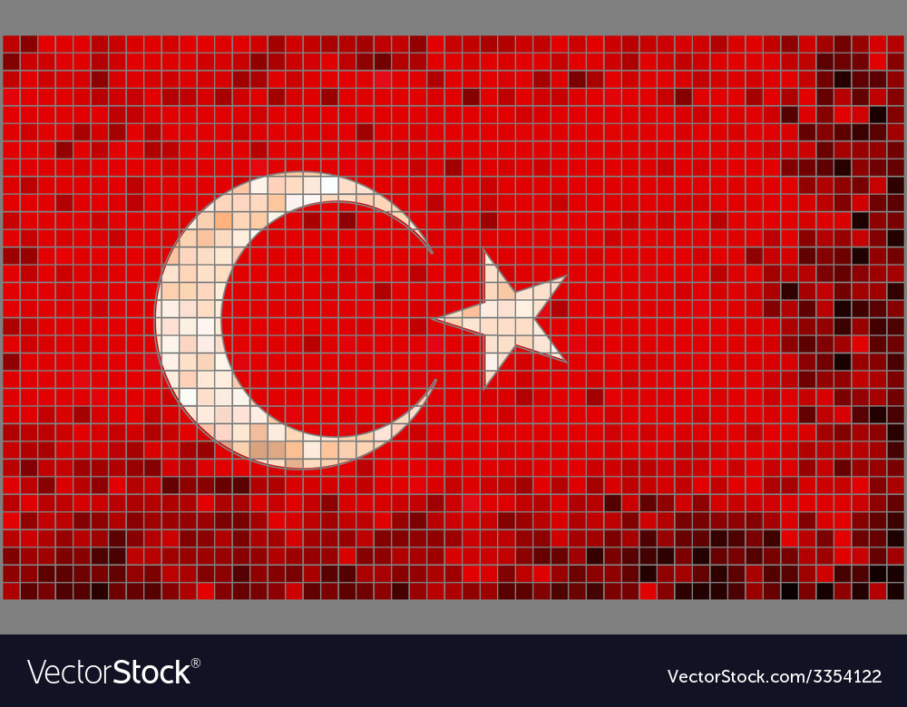 Abstract mosaic flag of turkey vector | Price: 1 Credit (USD $1)