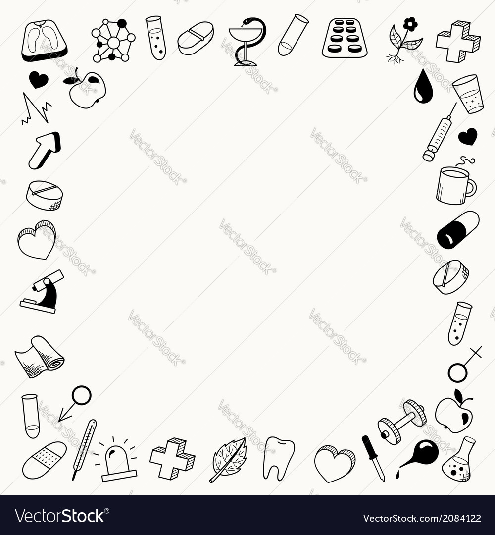 Background with frame on the medical theme vector | Price: 1 Credit (USD $1)