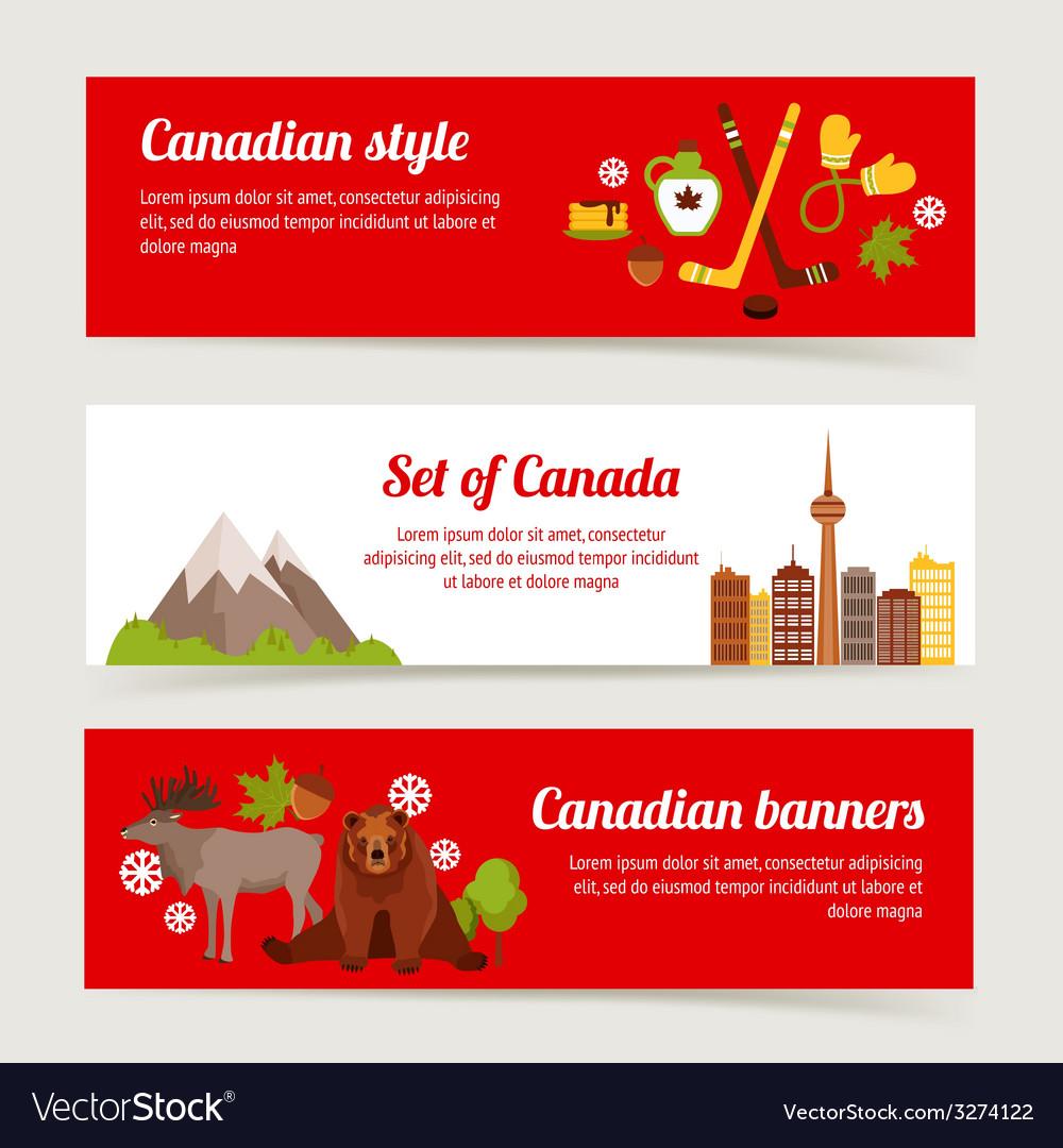 Canada banner set vector | Price: 1 Credit (USD $1)