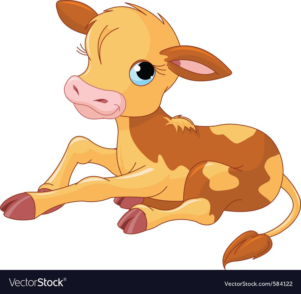 Cartoon baby calf vector | Price: 3 Credit (USD $3)