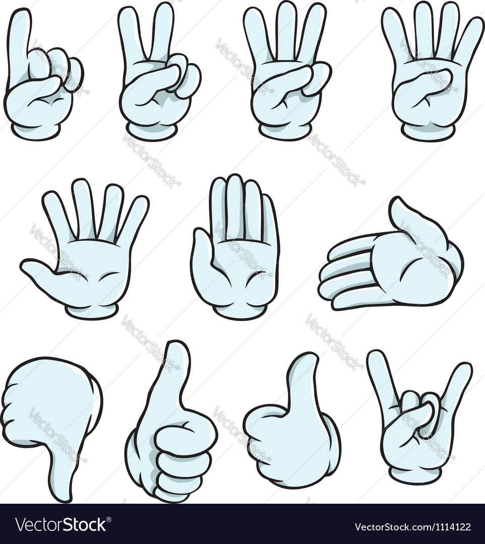 Cartoon hands set vector | Price: 3 Credit (USD $3)
