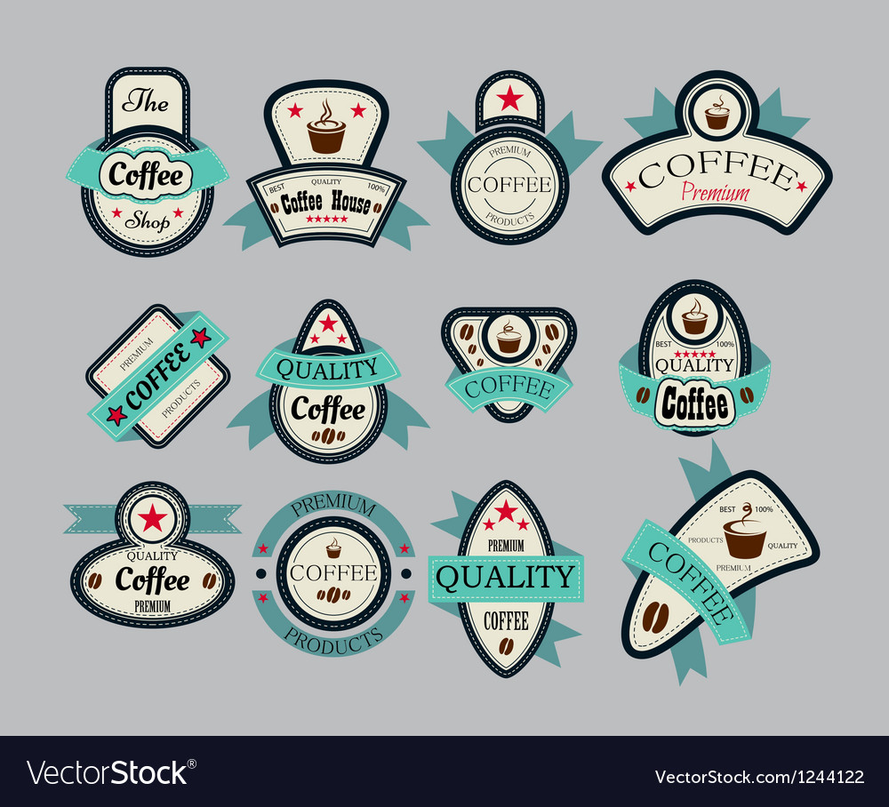 Coffee house labels vector | Price: 1 Credit (USD $1)