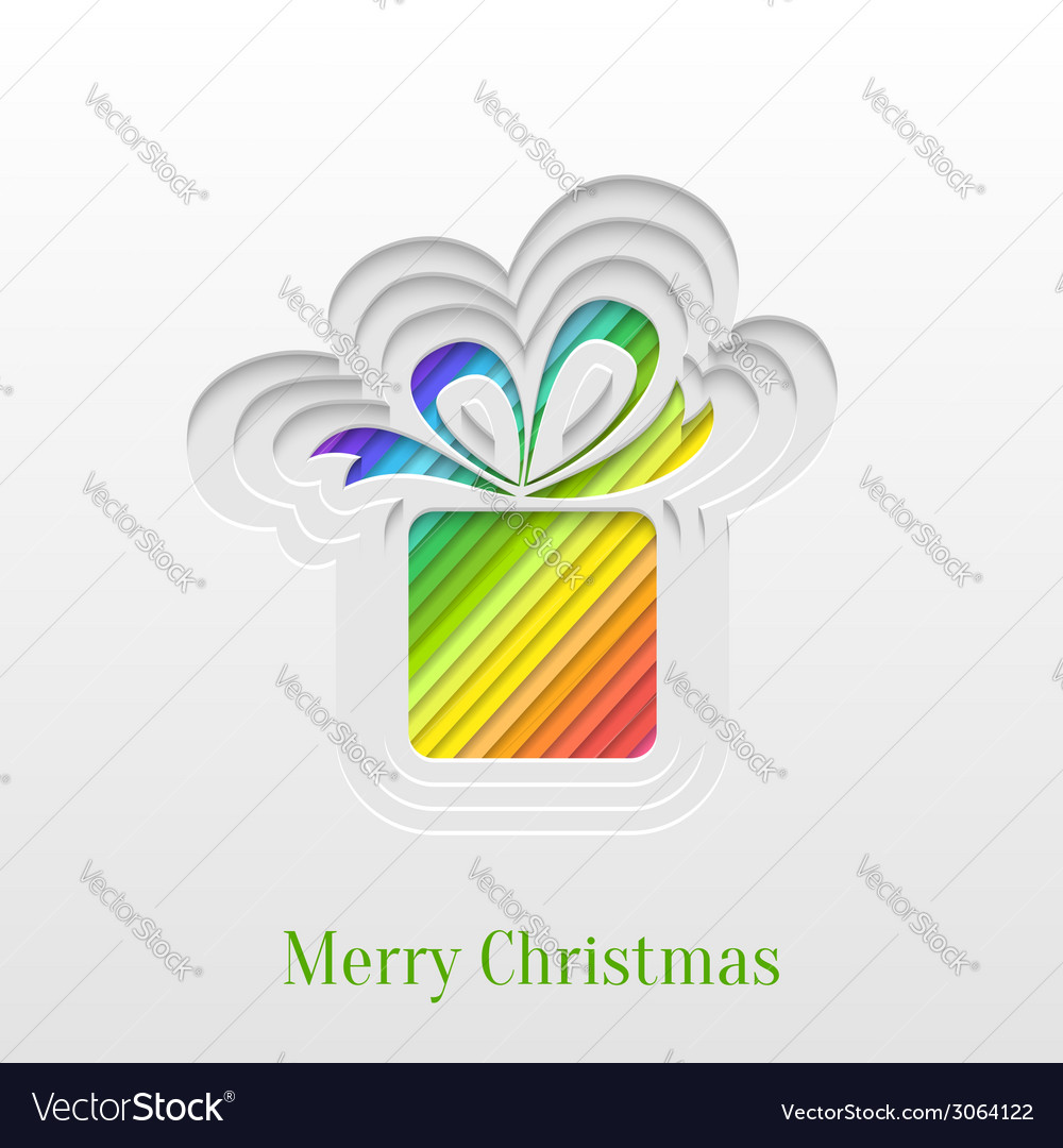 Creative christmas gift greeting card vector | Price: 1 Credit (USD $1)