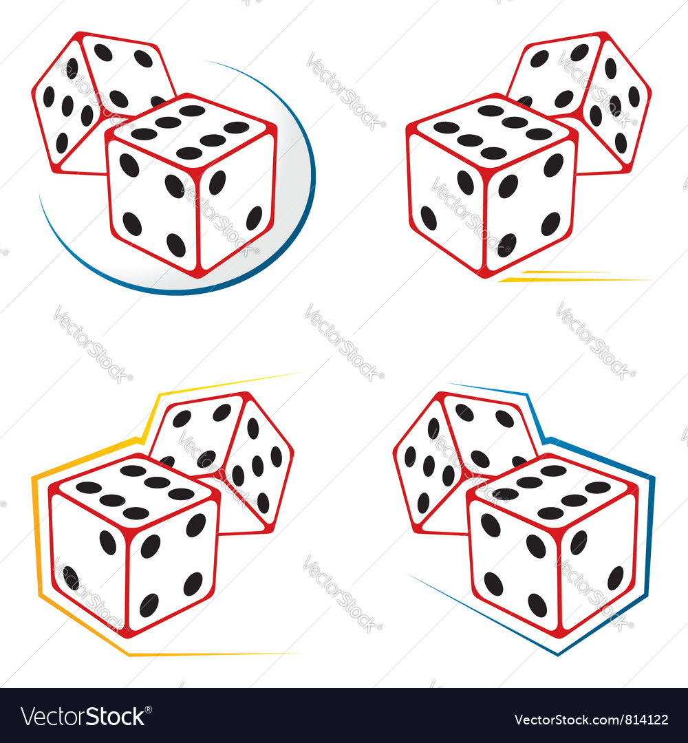 Dices icons vector | Price: 1 Credit (USD $1)