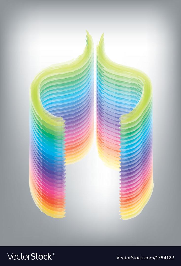 Geometric rainbow vector | Price: 1 Credit (USD $1)