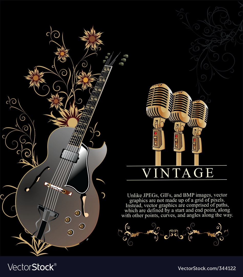 Guitar and microphone vector | Price: 1 Credit (USD $1)