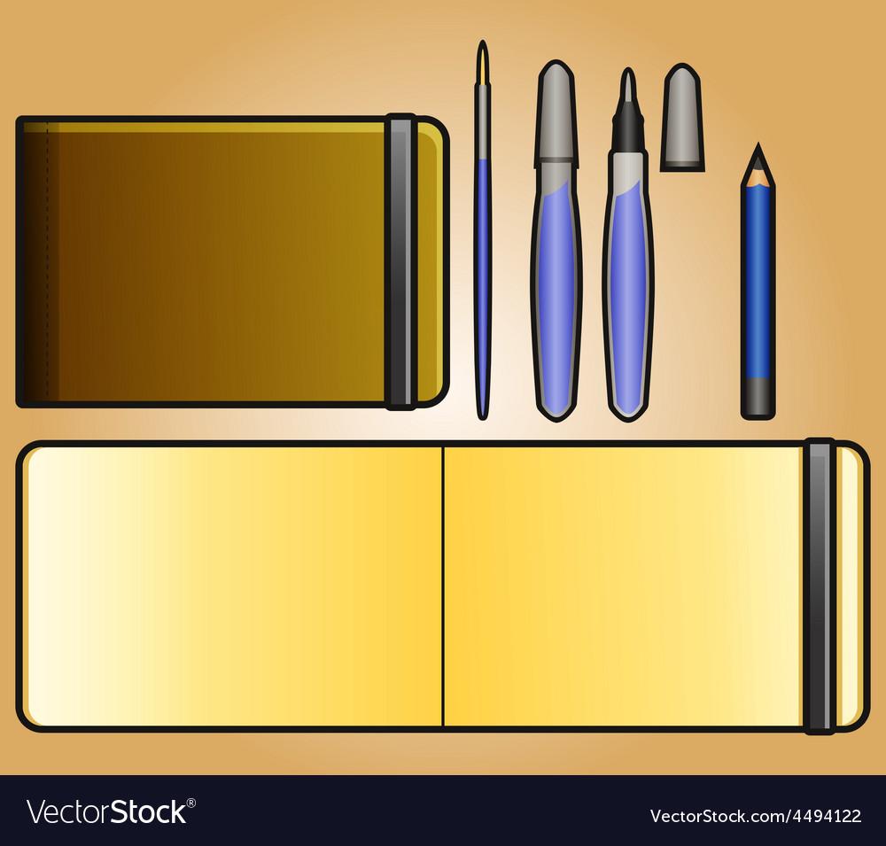 Landscape sketchbook vector | Price: 1 Credit (USD $1)