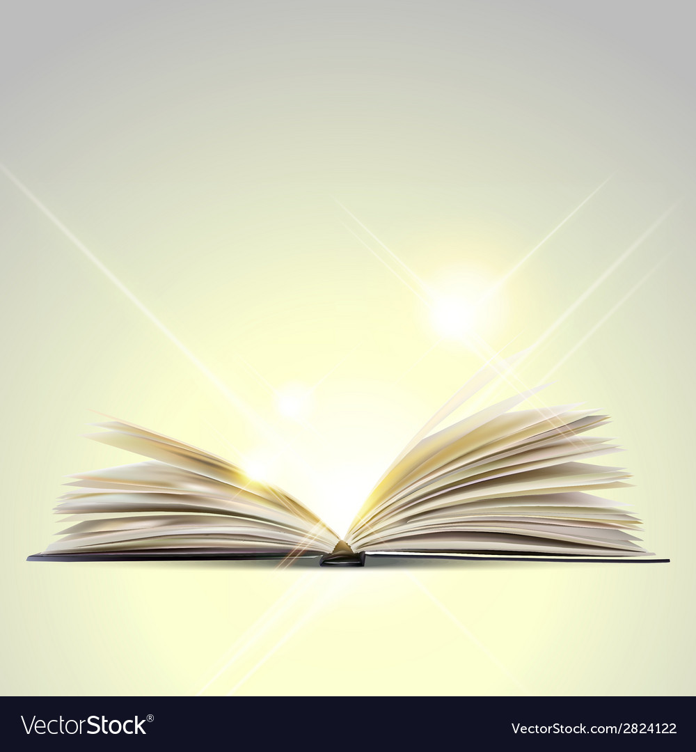 Open book isolated on white background vector | Price: 1 Credit (USD $1)