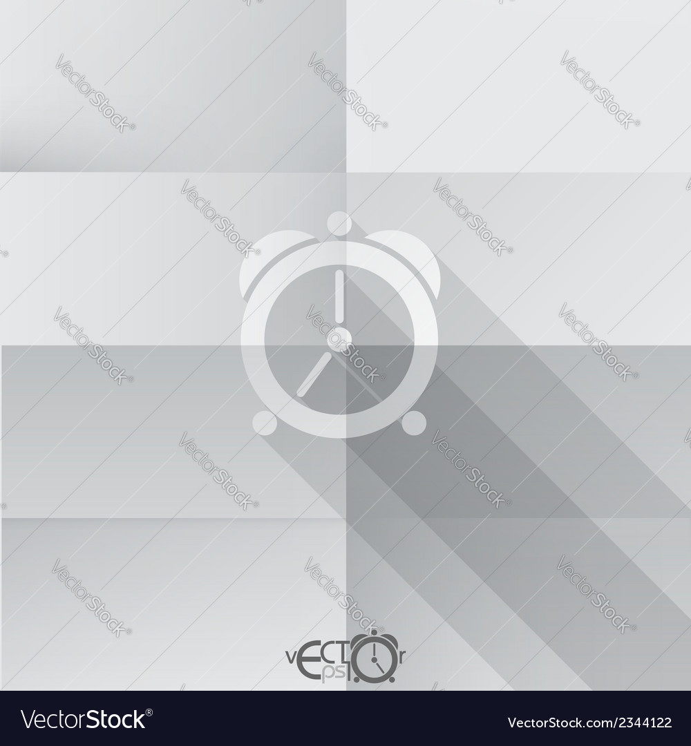 Paper clock icon vector | Price: 1 Credit (USD $1)