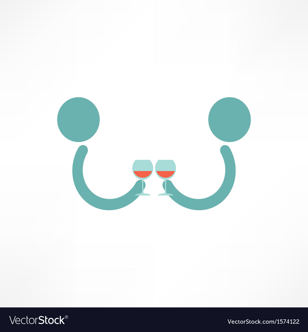 People drink wine vector | Price: 1 Credit (USD $1)