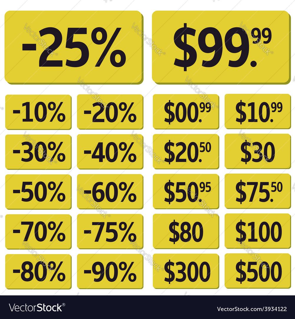 Price icon set vector | Price: 1 Credit (USD $1)