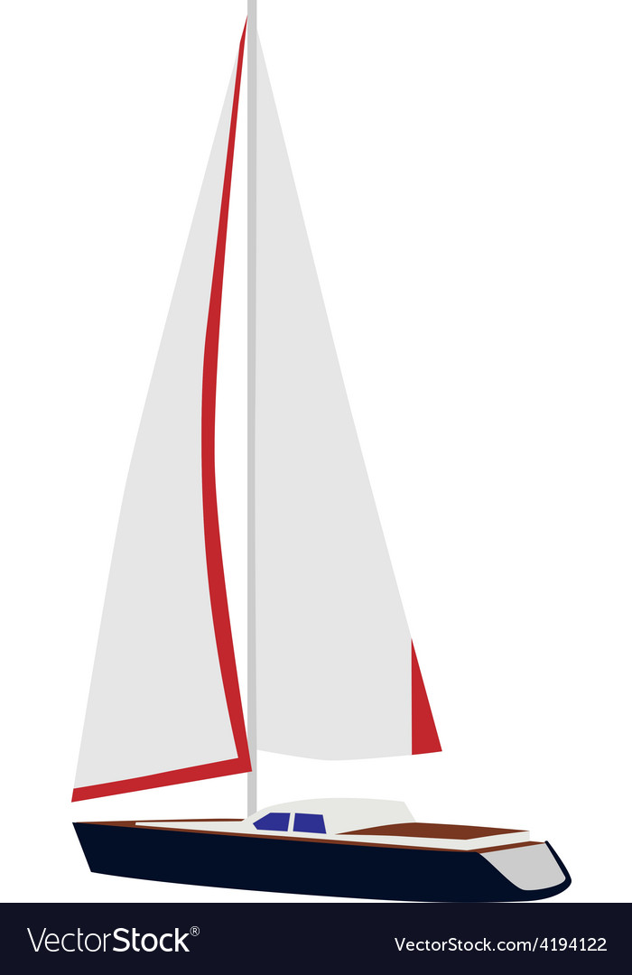Sailing yacht vector | Price: 1 Credit (USD $1)