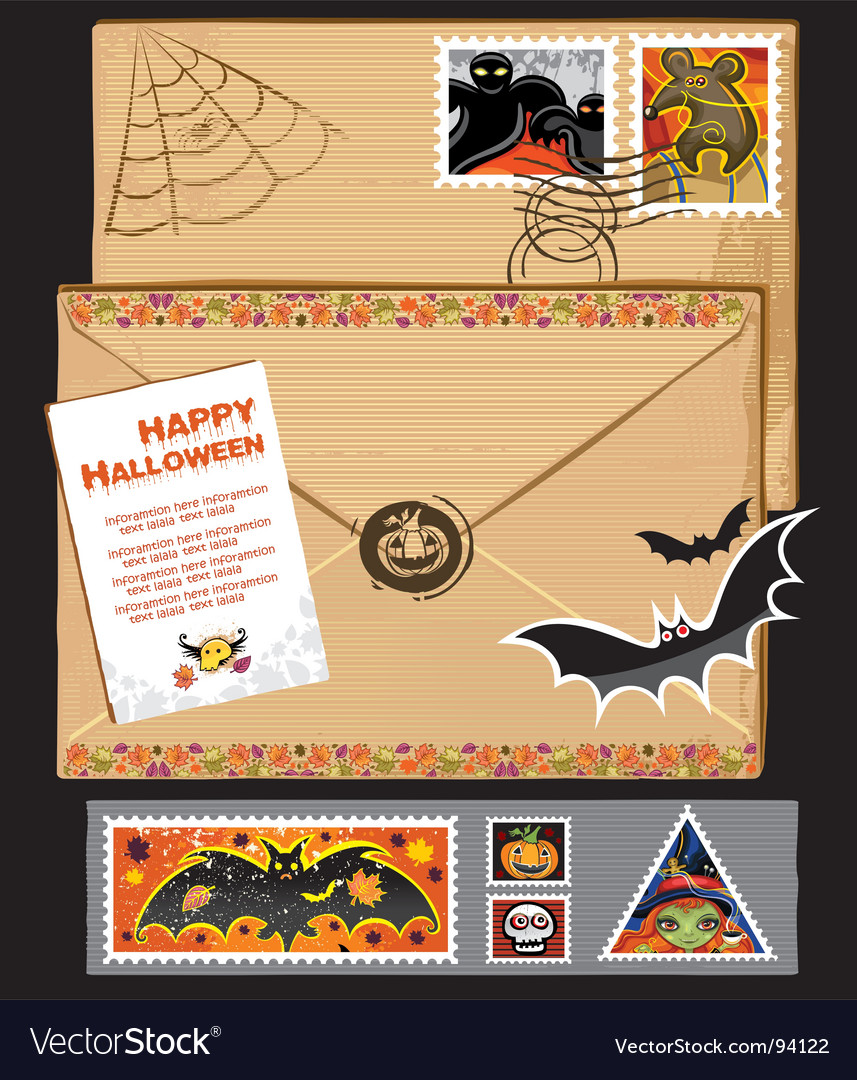 Thanksgiving stamps and envelope vector | Price: 3 Credit (USD $3)