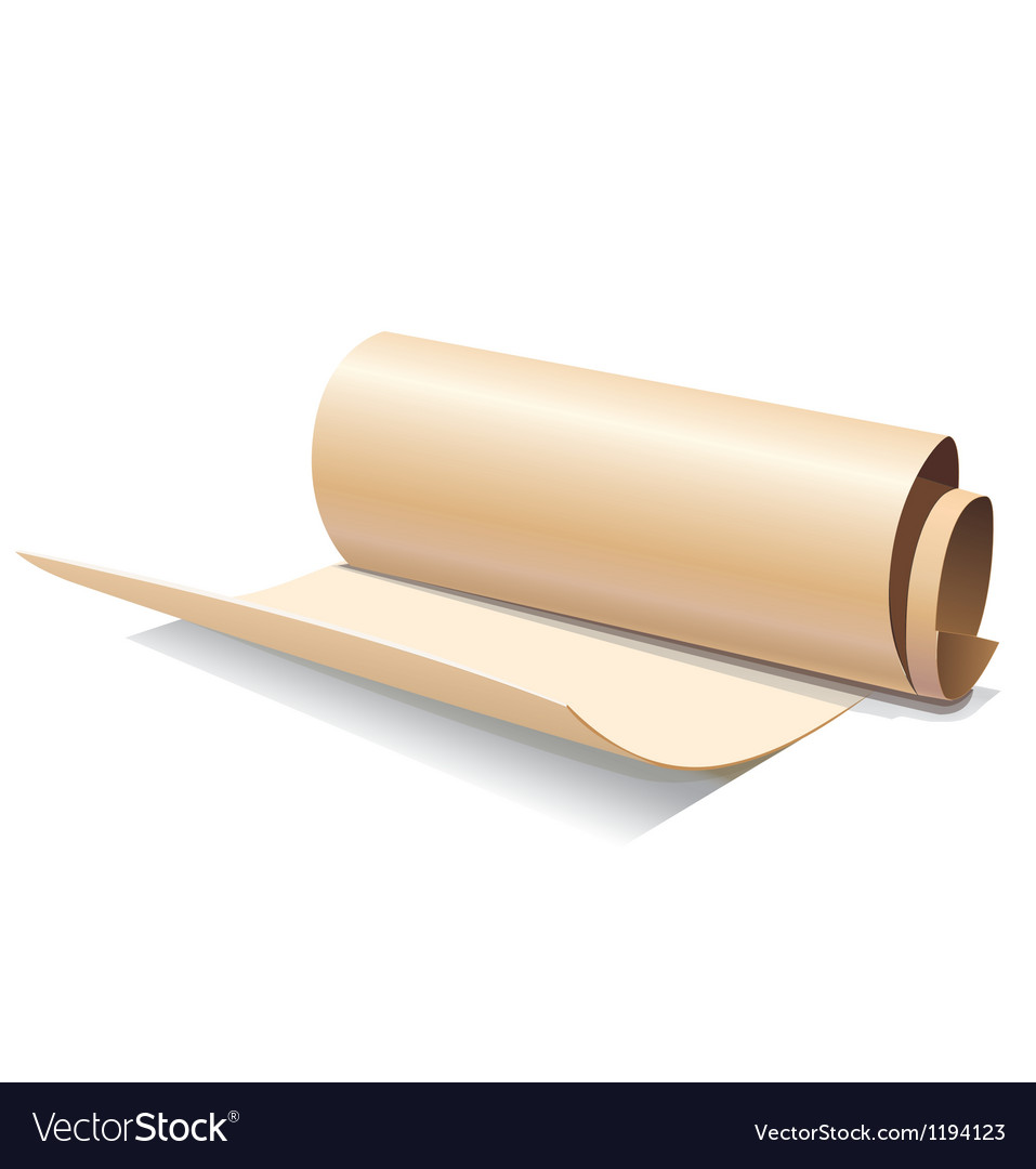 Ancient paper roll icon vector | Price: 1 Credit (USD $1)