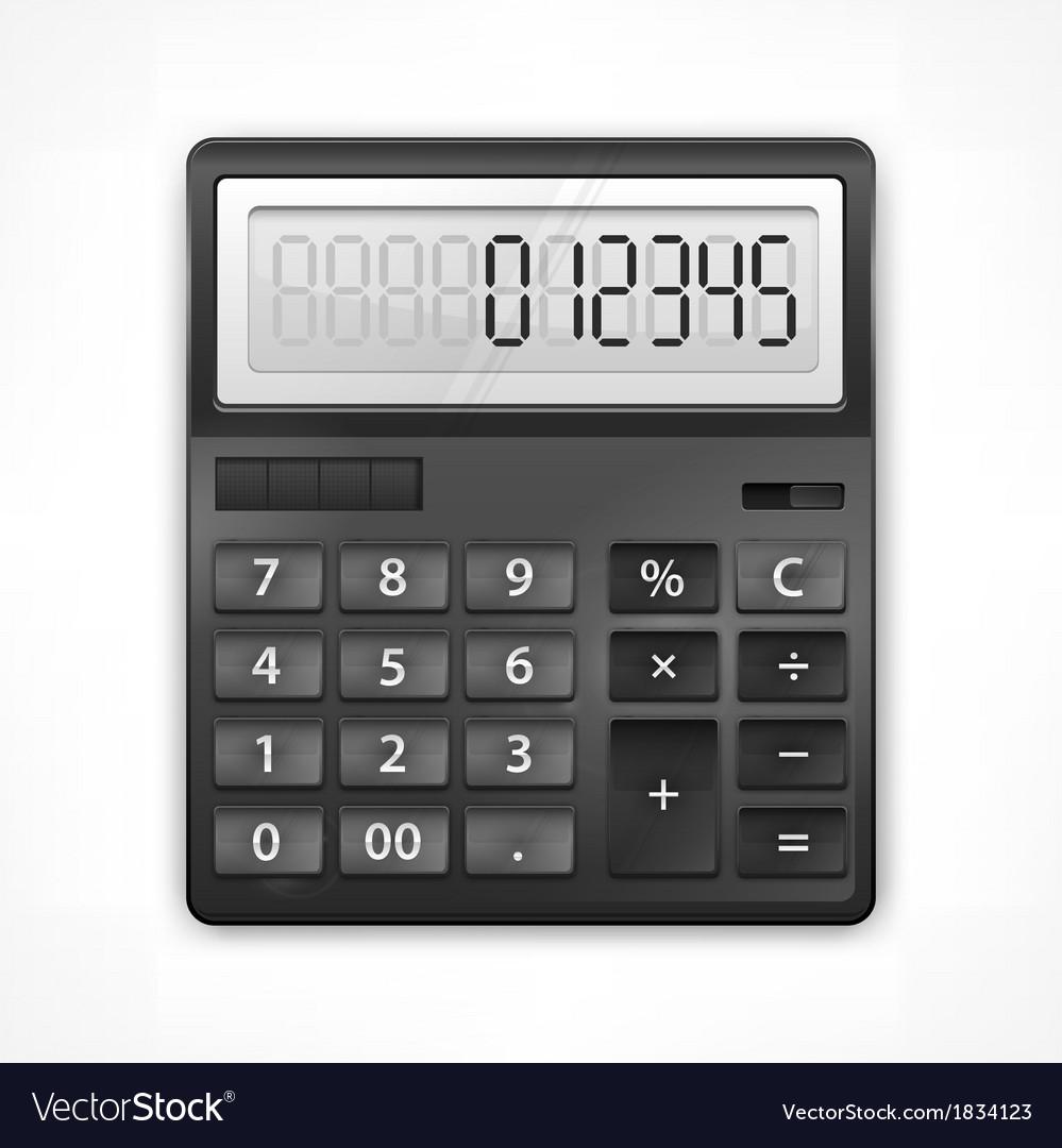 Calculator on white vector | Price: 1 Credit (USD $1)