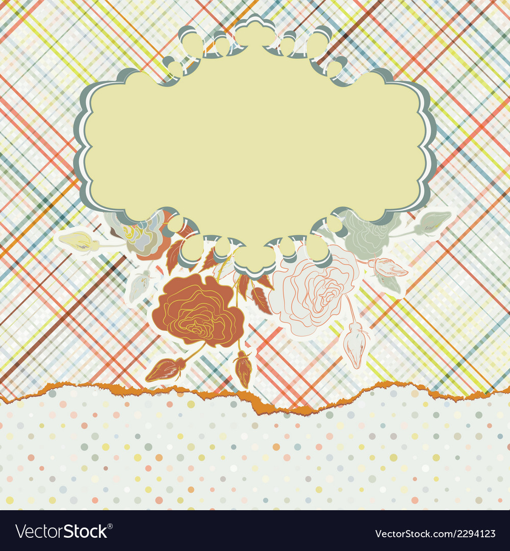 Design with colorful label on light fabric eps 8 vector | Price: 1 Credit (USD $1)