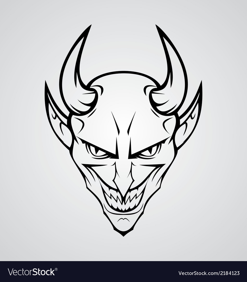 Devil head vector | Price: 1 Credit (USD $1)