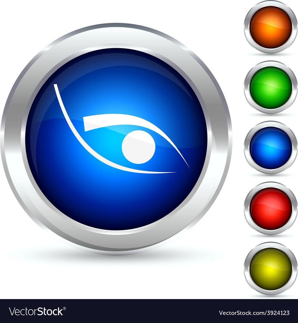 Eye button vector | Price: 1 Credit (USD $1)